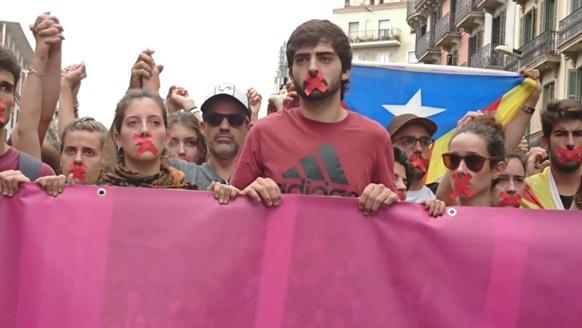 Barcelona, 2 octobre 2017, après la répression du référendum (photo MN)