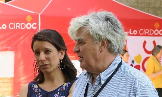 Estelle Ceccarini et Paul Martin ont du jeter l'éponge devant la difficulté : événements limités à trente personnes, risques de non venue d'une part du public, distanciations délicates à organiser, et programme amputé ...(photo MN)