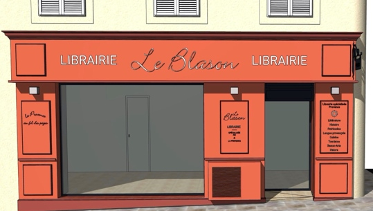 La librairie ne déménage pas vraiment mais s'aggrandit en portant son siège principal à trente mètres du local historique (photo Le Blason DR)