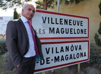 En 2010 un habitant de cette commune héraultaise avait attaqué le maire (photo) pour un panneau bilingue d'entrée de ville (photo XDR)