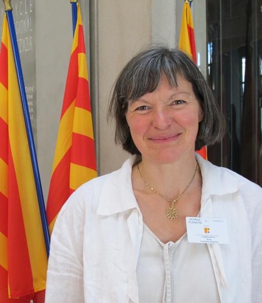 Marie Tarbouriech avait vécu Mai 68 à Paris, et y avait vu naître sa conscience occitaniste (photo MN, 2010)