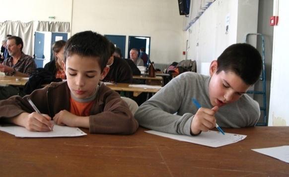 """Parfois une école """"à projet langue régionale"""" participe à la Dictada de Septèmes (photo MN)"""