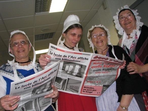Et les Dictadas sont aussi une occasion de découvrir de nouveaux médias...comme ici à Orange en 2010 (photo MN)