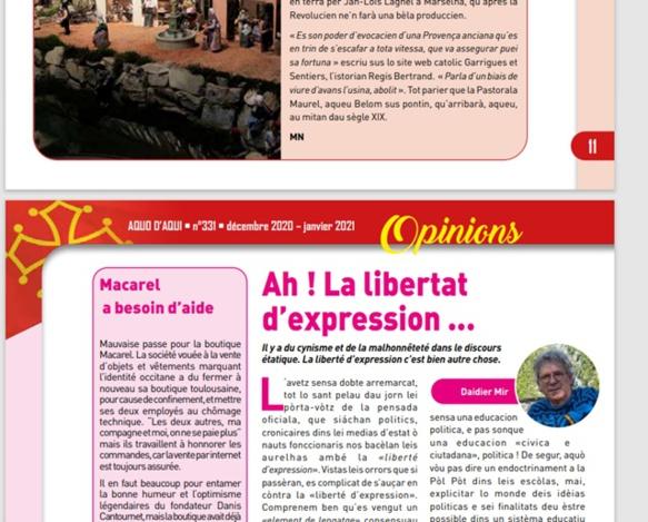 24 pages de diversité, en français comme en occitan dans ses différentes variétés, avec des glossaires pour apprendre