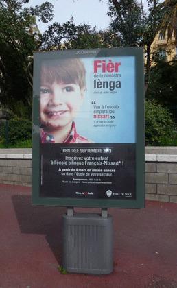 Nice affiche la fierté d'apprendre la langue d'oc à l'école (photo XDR)