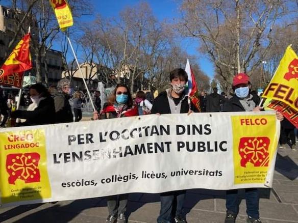 Idem à Montepellier où, protestant contre la faiblesse criante des créations de postes, ils défilaient derrière la banderolle de la Felco (photo XDR)