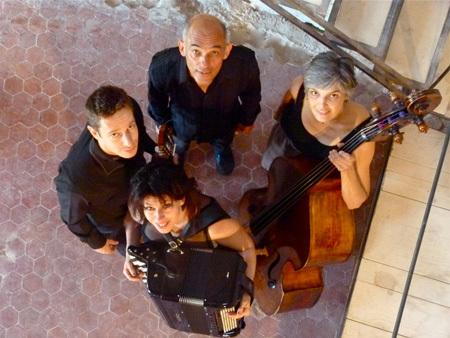 Le quatuor Christiane Ildevert, Aurélie Lombard, Renat Sette et Didier Lubrano, au service de la poésie de Serge Bec (photo XDR)
