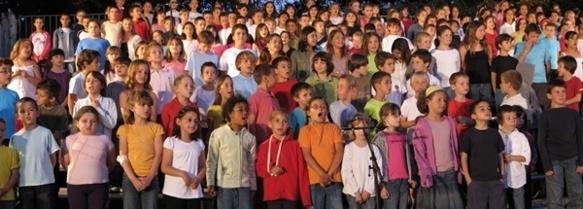 533 enfants sont attendus pour chanter en occitan à Aix, plus qu'en 2009 (comme ici, photo MN)