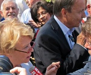 En mars 2012 le président socialiste du Sénat, Jean-Pierre Bel, manifestait à Toulouse pour l'occitan dans la vie publique aux côtés d'Eva Joly (photo MN)