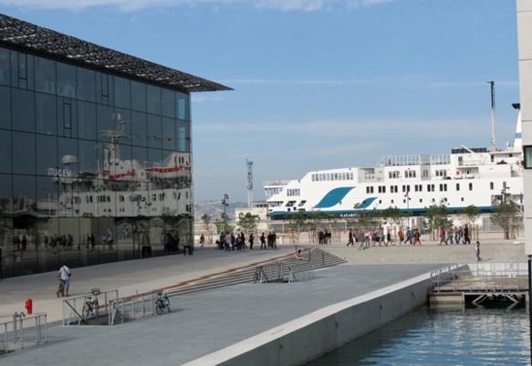 Inauguré en juin 2013, le Mucem est un des évènements de l'année Marseille Capitale Européenne, mais ne se préoccupe pas de la provençalité de Marseille (photo MN)
