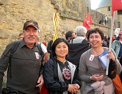 Avec Regina et Joan Pèire Baquié à Carcassonne en 2009 (photo XDR)