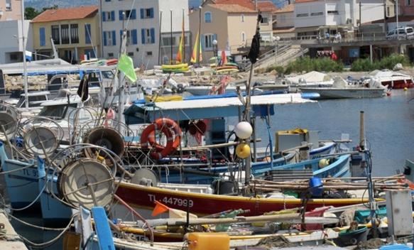 Face aux Sablettes le port de Saint-Elme fut un des hauts lieux de la pêche artisanale. Il en reste quelque chose...dans la langue occitane (photo MN)