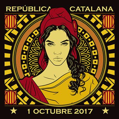 Représentation symbolique de la République Catalane par Isaac Zamora (photo IZ DR)
