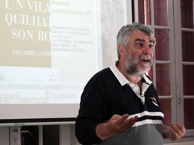 Le Cep d'Oc organisera des sessions de formation pour les vidéastes qui collecteront les témoignages a précisé Jean-Pierre Belmon, son président (photo MN)
