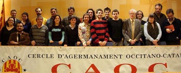 A Barcelona en 2010 lo Comitat d'Afrairament Oc-Català bailèja la Dictada esta annada un còp de mai (photo Caoc DR)
