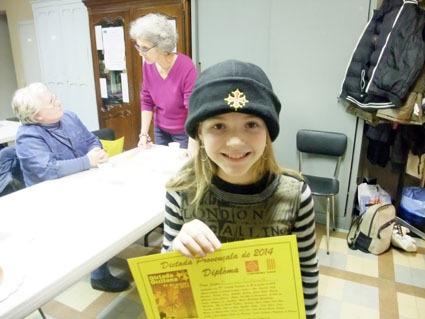 La jeune Pierrinne apprécie d'être lauréate (photo XDR)