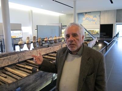 Philippe Rigaud a brossé en occitan l'intérêt de la découverte (photo MN)