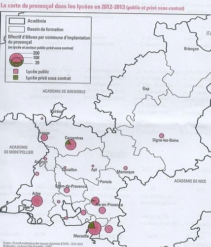 Public et privé confondus, moins de mille lycéens désormais suivent un cours de langue régionale dans l'Académie d'Aix-Marseille (XDR)