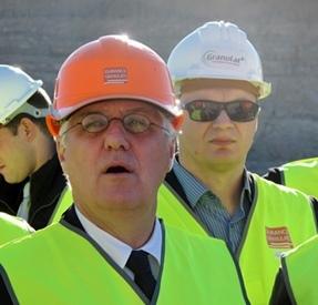 En décembre 2013, Philippe Martin, le ministre de l'Ecologie, avait visité la centrale photovoltaïque à l'occasion d'un colloque sur l'économie circulaire (photo MN)