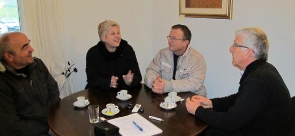 """J.Jaque Murat, Patricia Jouve, Patrick Bobbio, Esteve Berrus : """"La Charte européenne est une avancée, mais limitée"""" (photo MN)"""