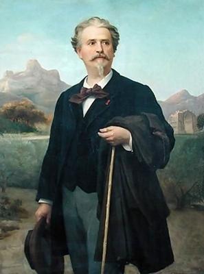 Frédéric Mistral en 1888, peint par Jean-Baptiste Clément (XDR)