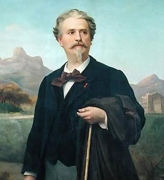 Frédéric MIstral par Jean-Baptiste Clément en 1888. Il veut favoriser la décentralisation quelle que soit la situation politique (XDR)