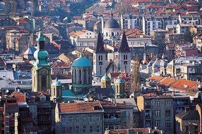 """La Bosnie (ici Sarajevo), où se rend régulièrement Arnaud Fromont. """"Un vaccin contre le nationalisme"""" (photo XDR)"""