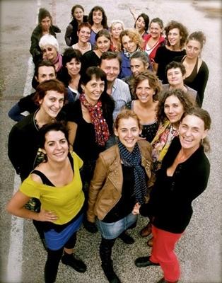 Plusieurs choeurs de femmes d'expression occitane ont participé à la création. On les retrouvera aux Joutes musicales de Correns en juin 2014 (photo XDR)