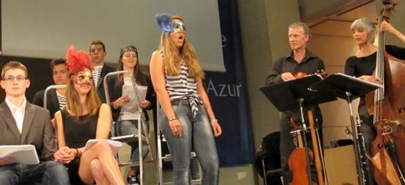 Chants en provençal, arabe et italien pour une oeuvre de la rencontre, des peuples, des gens, des idées (photo MN)