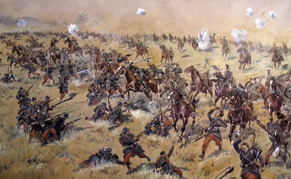 La bataille de Lagarde, ou est engagé le XVè corps, par Zimmer, coll. part. est proposé à l'exposition des Archives Départementales du 13 (XDR)