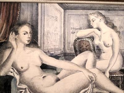 Chez Delvaux les femmes s'ignorent souvent. Lui a été confronté à une mère qui refusait son mariage (Etude pour Femmes au salon, de 1943)