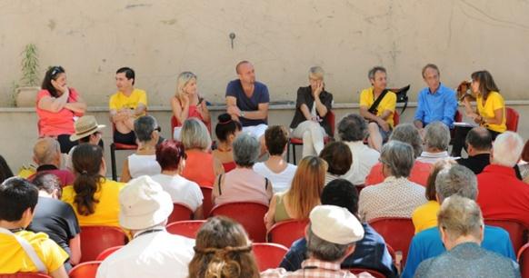 Un débat où les artistes invités du Festival de Martigues étaient très représentés (photo Festival de Martigues DR)