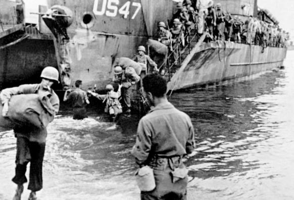 Une fois tues les batteries côtières allemandes, le débarquement s'organise (XDR)