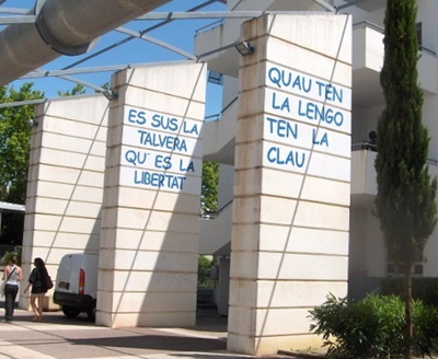 Au lycée de l'Arc, la langue d'oc n'est ni inaudible, ni invisible (photo XDR)