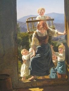 La ruralité peine à entrer dans les catégories toutes faites par l'Administration française (Ferdinand Georg Waldmüller - Mère rentrant ses enfants - Leopold Museum Wien DR)