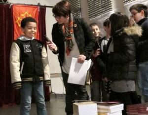 Dans les Bouches-du-Rhône les écoliers avaient fait la Dictada la veille, mais les familles ont fait ensuite le voyage jusqu'à Septèmes (photo MN)