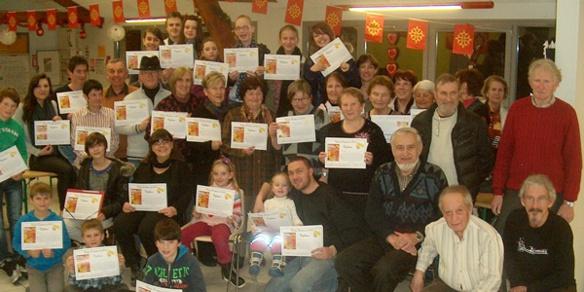 A Gap (photo) comme à Orange, ce sont les parents de la Calandreta, école immersive bilingue, qui ont fait le succès de la Dictada (photo Faure DR)