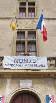 La mairie d'Eguilles samedi 14 février 2015 (photo MN)