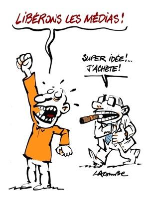 Si Le Ravi perd de l'argent, il ne perd pas son humour, sa première arme face à la crise qu'il traverse (photo XDR)