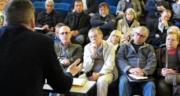 Le 14 mars à Gassin, restitution des travaux de commissions (photo MN)