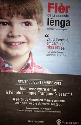 L'affiche date de 2013. Sans l'ouverture du CP l'enseignement en occitan à la maternelle aurait perdu en crédibilité (photo XDR)