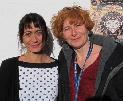 Avec Delphine (Asso Salabrum) et Manue (Manivette Records). CD, concerts, événements deviennent possibles (photo MN)