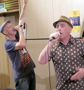 """Gari Grèu et Papet J, du Massilia Sound System : """"le fait de chanter en occitan est plutôt un avantage, surtout à l'étranger, où la curiosité est de mise, plus qu'en France"""" (photo MN)"""
