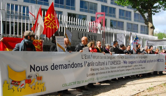 15 mai 2013, l'occitan trouve asile à l'Unesco...Mai 2015 l'Atlas de l'Unesco ne trouve pas l'occitan (photo XDR)
