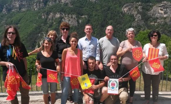 Une partie de l'équipe organisatrice des Rescontres Occitans de Braus (photo XDR)