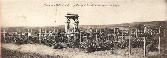 S'il faut donner un nom au parking de Cogolin, pour les quatre historiens il est préférable de se souvenir des soldats provençaux du XVè corps, massacrés puis diffamés en 1914 (photo XDR)