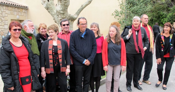 La còla de l'atalhier de cant dau Ceucle Occitan de La Seina (photo MN)