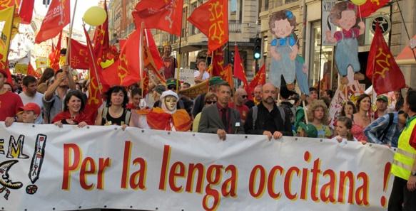L'IEO co-organise la manifestation de Montpellier, où il espère favoriser une loi pour les langues régionales (photo MN)