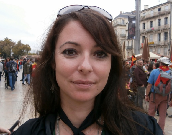 """Eva : """"Demeurons positifs, dans l'enseignement, la demande d'occitan augmente. Mais il faut qu'on puisse y répondre..."""" (photo AC DR)"""