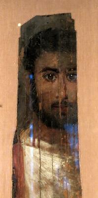 Portrait funéraire du IIè siècle après JC (Musée du Louvre). La trace d'un être vivant tel qu'il fut vivant.